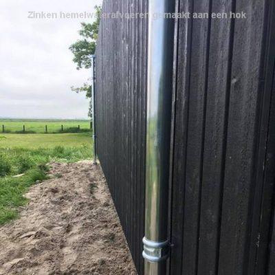 20190526 Prins techniek en montage Zinken hemelwaterafvoeren gemaakt aan een hok1